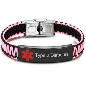 Type 2 Diabetes Medical Alert ID Bracelet